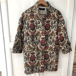Zara Brocade Coat